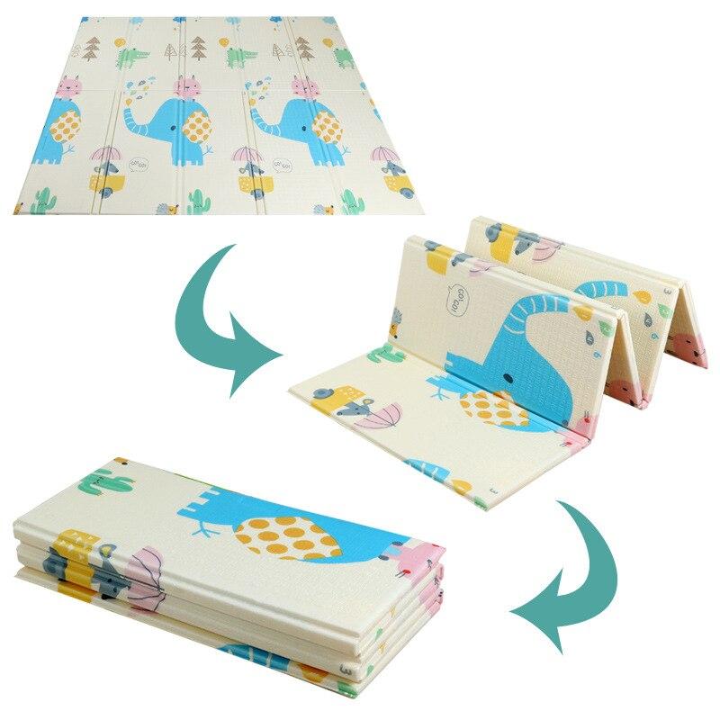 Tapis de jeu brillant pour bébé tapis de jeu pour enfants tapis de jeu pour bébé 200*180*1 cm mousse XPE Puzzle tapis de jeu pour bébés tapis souple éducatif - 5