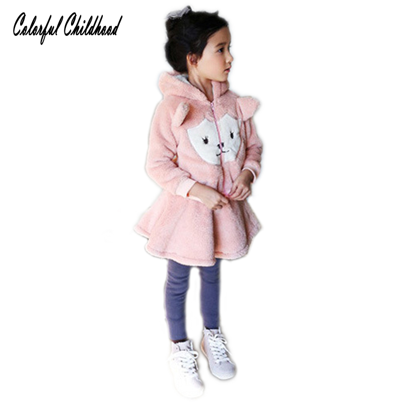 Toddler girls clothing sets kids winter thick clothes girls bear hooded+skirt pants clothing set Children Plus thick velvet suit toddler girls hello kitty clothes set winter thick warm clothes plus velvet coat pants rabbi kids infant sport suits w133
