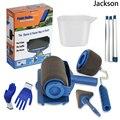 Бесплатная доставка  бесшовный инструмент для нанесения краски  Профессиональный роликовый инструмент для нанесения краски на стену  набо...