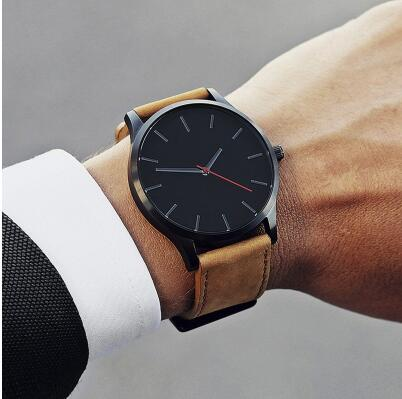 2019 Dropshipping Big Dial Luxury Brand Male Watches Men's Sports Quartz Clock Man Leather Military Wristwatch Relogio Masculino