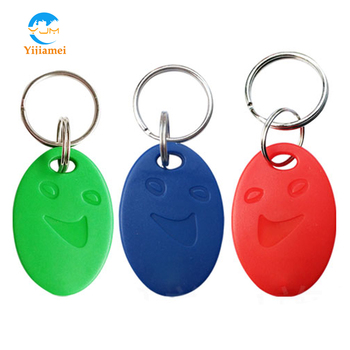 Smile type RFID Key tags Key fobs Key Chains ABS Material Tags with 125KHz Work Frequency which are used for Access Control 10pcs rfid keytags 13 56 mhz rfid key fobs keychains nfc tags iso14443a mf classic