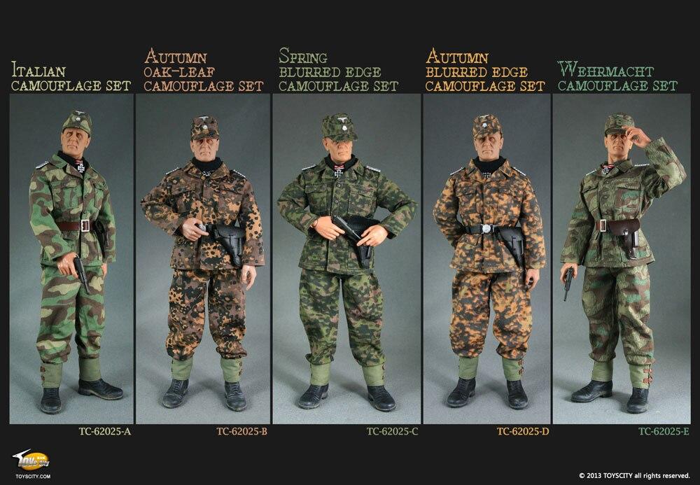 Estremamente Nuovo 1/6 scale mimetiche da combattimento uniformi seconda guerra  WP99