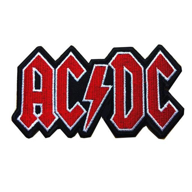 10pcs new words ac dc logo metal hard rock music band iron on patch rh aliexpress com Metal Band Logos Ideas Hard Rock Band Logos