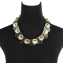 Модные украшения чокеры асимметричное круглое двухцветное Смешанное
