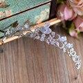 New Top Quality Vintage Brilhante de Zircônia Noivas Coroa Tiara De Cristal Hairbands Acessórios De Cabelo À Noite