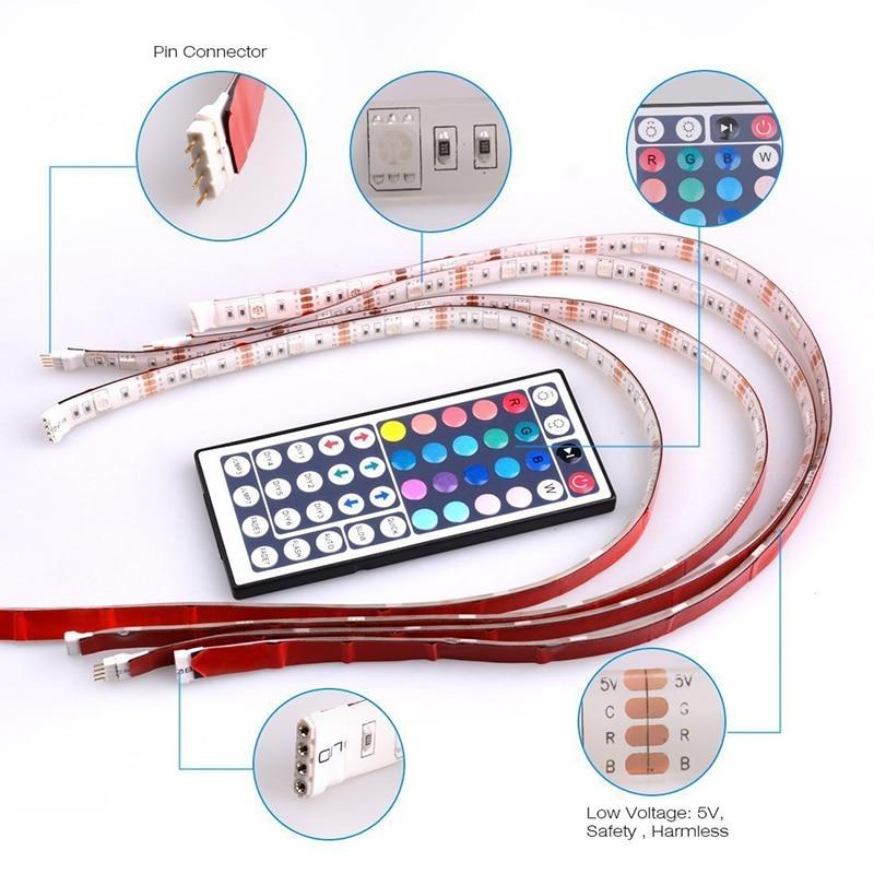 1PCS DC5V Wall corner LED Bar Light 60 LED shape Aluminum Profile LED Hard Rigid Strip Light Cabinet Lamp bar counter