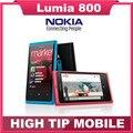 Nokia lumia 800 abrió el teléfono original 3g smartphone 8mp cámara de windows teléfono móvil shipping rehabilitado