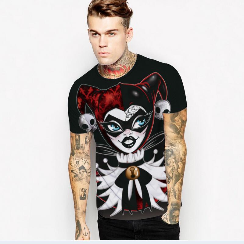 3d T Kemeja pria Busana Rekreasi Baru Angin Eropa Dan Amerika Kreatif  Desain Printing pria Pendek lengan T-Shirt 3c3b73ec54