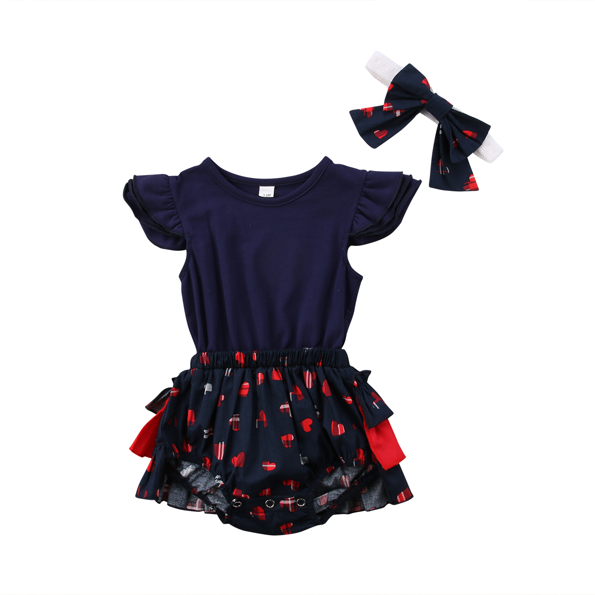 USA Canis Toddler Baby Girl Sequin Tulle Snow White Romper Bodysuit Dress Outfit Clothing, Shoes & Accessories