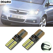 BOAOSI 2x Car LED T10 Canbus W5W No error Wedge Light For Opel Zafira A B Vauxhall Zafira Corsa C Cambo D Vauxhall Corsa 3 Van