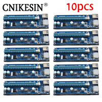 CNKESIN New Blue 1x To 16x PCI Express Riser Card PCI E Extender 60cm USB 3