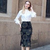 2019 новые зимние Винтаж Женская юбка пояс кожаная юбка весенние женские юбки Высокая Талия элегантные длинные юбки черный Jupe Femme XL