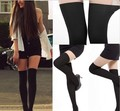 New Preppy Style Sexy Womens Black Sheer False Hose High Stockings Pantyhose Tights Knee High Socks