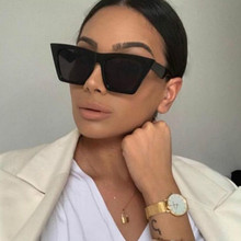 Women Big Frame Shades Oversized Sunglasses Square Brand Des