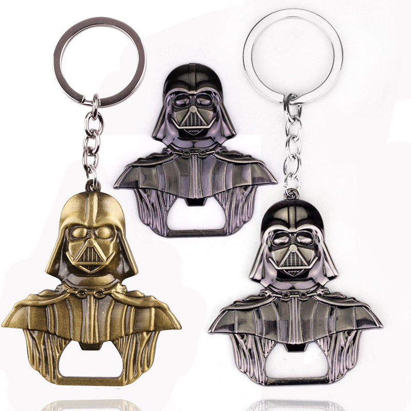 Star Wars Lord Darth Vader Bar Beer Bottle Cap Opener Keyring Movie Star Wars Keychain Gift Action Figure Cosplay Toys