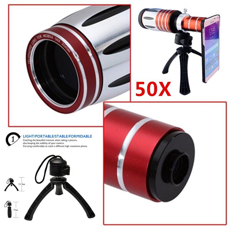2017 Camera Lens Kit 50X Métal Téléobjectif Zoom Lentes Pour iPhone 7 6 6 s Plus 5 5S SE 4 4S Samsung Fisheye Grand Angle Macro lentilles - 2
