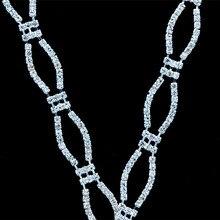 10Yards Rhinestones Trim Applique Crystal Belts Appliques Simple Design For Wedding Dresses