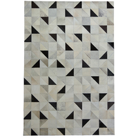 WINLIFE European Style Cattlehide Joint Carpets Purely Hanfmade Geometric Rugs For Parlor/Bedroom/Hall/Hoetel Tea Table Mats