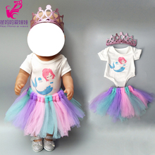 Dolls dress for 43cm baby doll clothes 18 inch summer and shirt clothe set