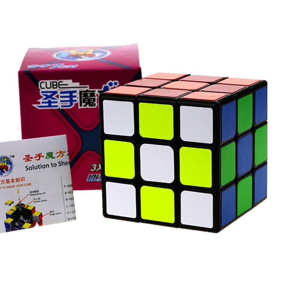 Shengshou Legend 3x3 Cube 7CM grande taille 3x3x3 Cube magique 3 couches vitesse Cube professionnel Puzzle jouets pour enfants enfants cadeau jouet