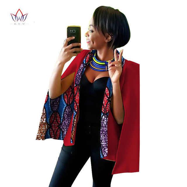 В африканском стиле для женщин; модные многоцветные из лакированной кожи Большие размеры костюм куртка для осени 2019