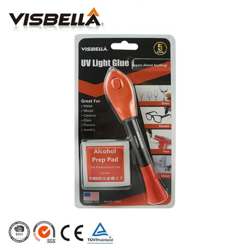 5 Second Fix Visbella Liquid Welding UV Light Curing Glue Pen Quick-drying All-purpose Uv-curable Adhesive Repair hand tool set