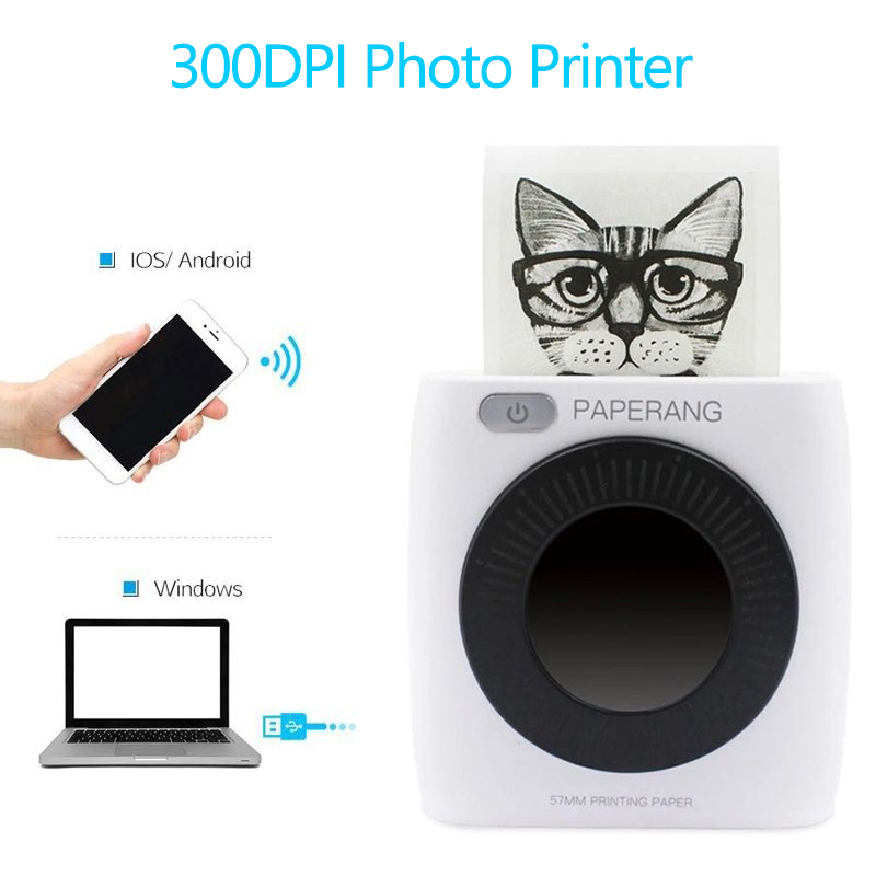 PAPERANG P2 Pocket Mini Portable Android Printer Bluetooth Photo Picture Label Printer With 300dpi HD Thermal Printer
