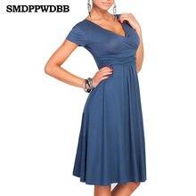 6e616f4fe Smdppwdbb mujeres vestido v-cuello elegante Oficina vestido Maternidad  Vestidos rodilla-longitud vestido de embarazo otoño Mater.