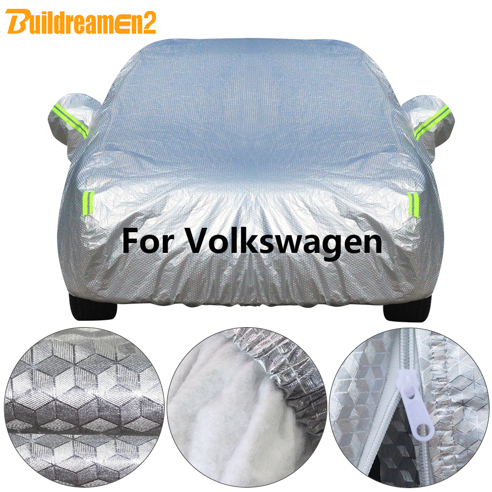 Buildremen2 Cotton Car Cover Sun Rain Snow Resistant Cover Waterproof For Golf Polo Sharan EOS Beetle