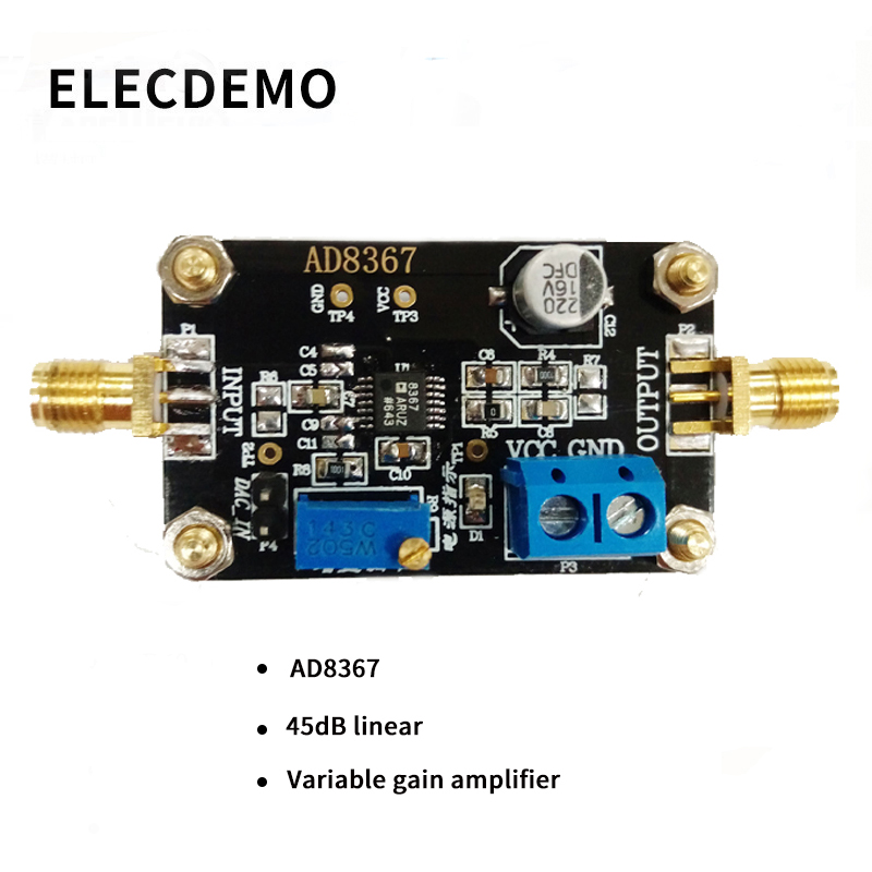 AD8367 Module Variable Gain Amplifier 500MHz Bandwidth 32dB Gain Amplification Function demo Board-in Demo Board Accessories from Computer & Office