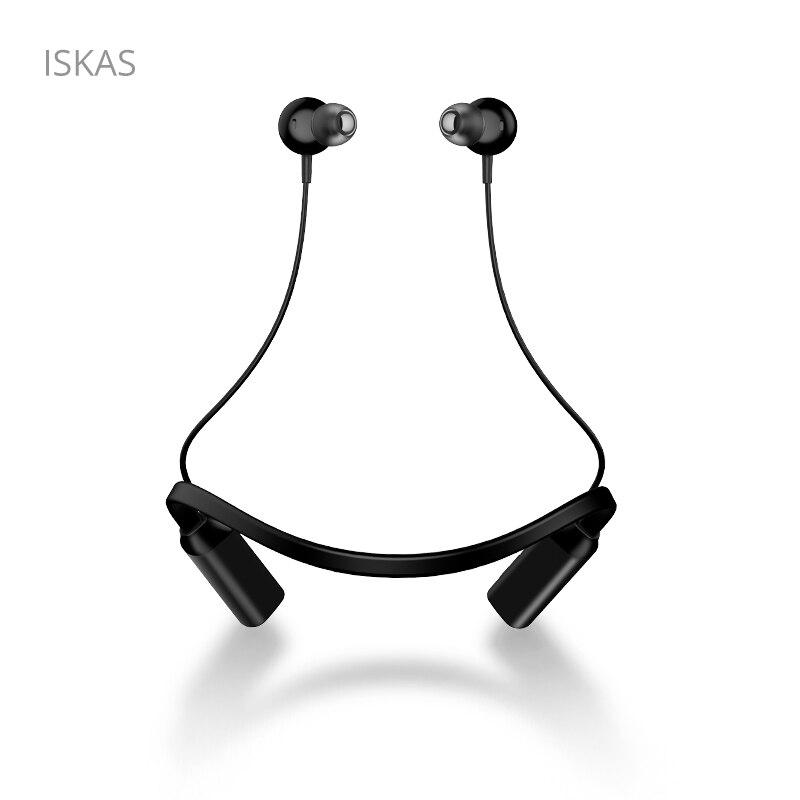 ISKAS Bluetooth écouteur Suporte De celulaire casque Musique téléphone Bluetooth aimants Musique téléphone sans fil téléphones portables bon nouveau