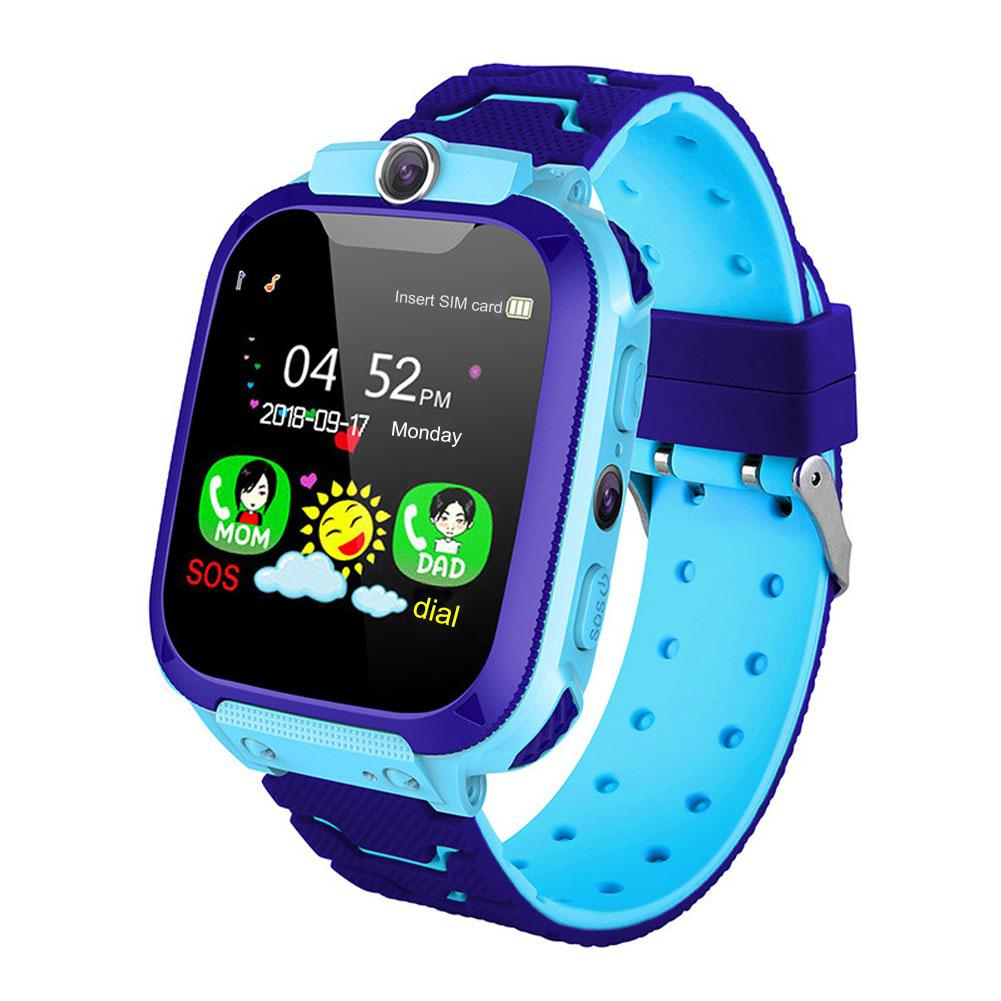 2019 NEW Waterproof Children Watches AJ09 1.44in GPS Navigation Camera 2G Network Phone Call Kits Safe Smart Watch