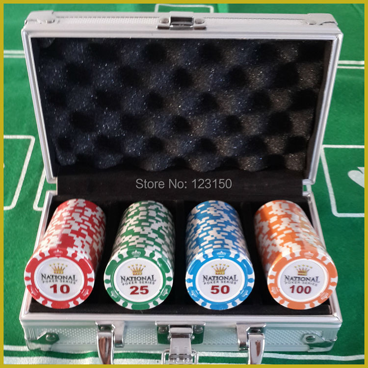 PK-8001-100pcsT  100pcs/pack with Alumi Case, Clay 14g Poker Chips 100pcs inside global elementary coursebook with eworkbook pack