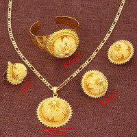 Bangrui Ethiopian New Jewelry Sets Real Gold Plated Eritrean Engagement Bride Wedding Habesha Luxury Jewelry Africa