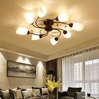 Vintage Ceiling Lights For Home Lighting Luminaire Multiple Glass Lamp Ceiling Lamp E27 Bulb LED Ceiling