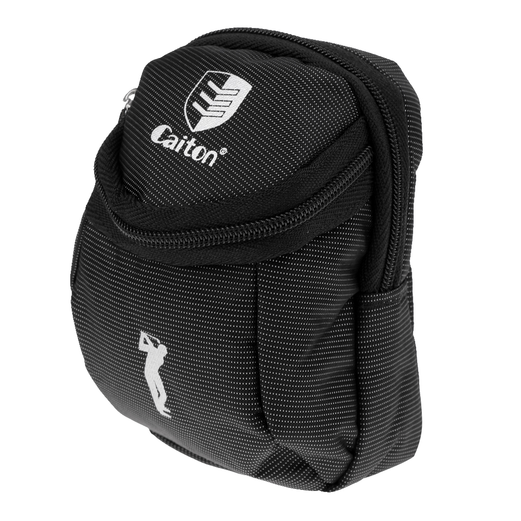 Black Mini Golf Ball Holder Pouch Bag Golf Kit Bag - Portable And Durable Golfer Tool Gift