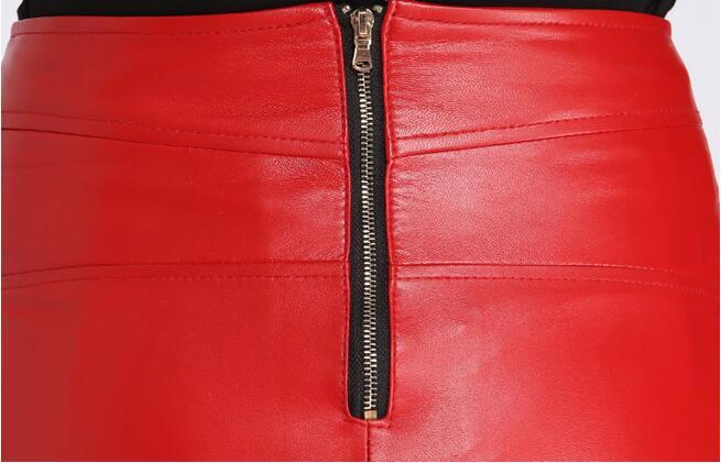 Femelle Cuir Vêtements Marque rouge Mode Femmes Noir Plus Jupes Et Casual Hiver En Taille 79280 Mini Automne 2018 Nouveau Sexy Véritable La Filles 8qwS6x