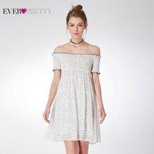 Elegant Dot Bridesmaid Dresses Ever Pretty A-Line Off The Shoulder Short For Wedding Party Woman Vestido Madrinha