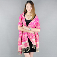 High Quality Printing Rose Scarf Shawl Scarves Lady Female Pashmina