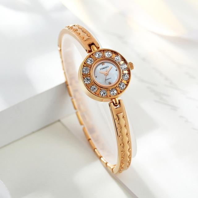 Time100 Luxury Women Bracelet Watch Diamond Quartz Watch