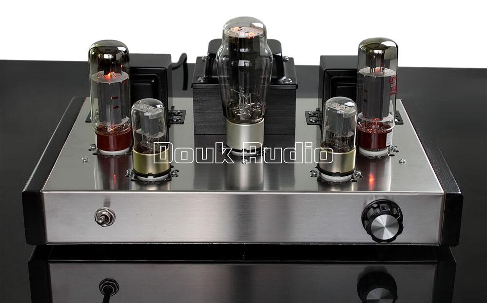 Douk audio 6N9P+EL34B Class A Single-ended Tube Amplifier Stereo HiFi Amp For Audiophile douk audio latest appj assembled fu32 single ended class a tube amplifier audio power amp board hifi diyer free shipping