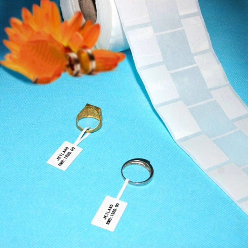 Jewelry Tag Direct Thermal PP Material Label Product Label