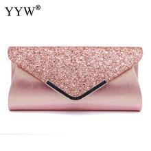 Women Lady Clutch Purse Glitter Sequin Handbag Elegant Sparkling Party Evening Envelope Clutches Bag Wallet Purse Bolsa Feminina все цены