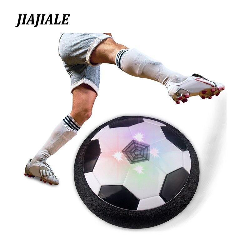 Poder aéreo Fútbol fútbol LED luz intermitente bola Juguetes disco deslizamiento multi-Superficie de vuelo juego de fútbol regalo para el cabrito chidren