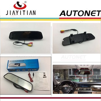 цена на JIAYITIAN rear camera mirror Rearview Mirror Monitor Car HD TFT LCD Monitor Color Screen Display For Reverse Rear Camera DIY