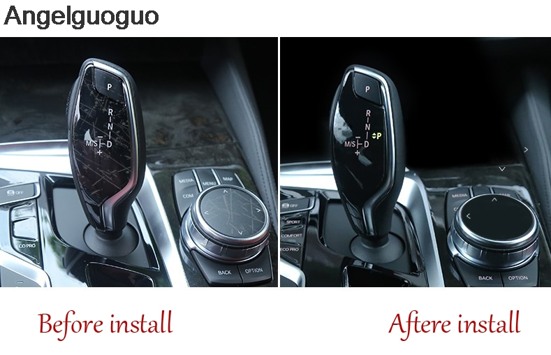 2 Gear Shift Knob+Multimedia Knob Protective Film cover for BMW 5 Series G30 G38