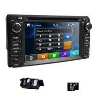 6.2 2Din Car DVD Player for Toyota Corolla Auris Fortuner Estima vios Innova RAV4 Prado Vios Hilux Vitz gps Navi Mirror DAB Cam
