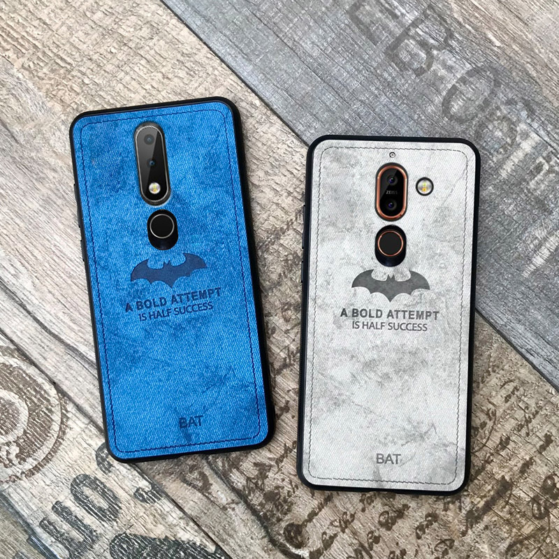 deer cloth mobile phone case on for <font><b>nokia</b></font> x6 2018 <font><b>6.1</b></font> plus 7 plus 7plus nokia7 plus x7 retro leather <font><b>tpu</b></font> back cover coque image