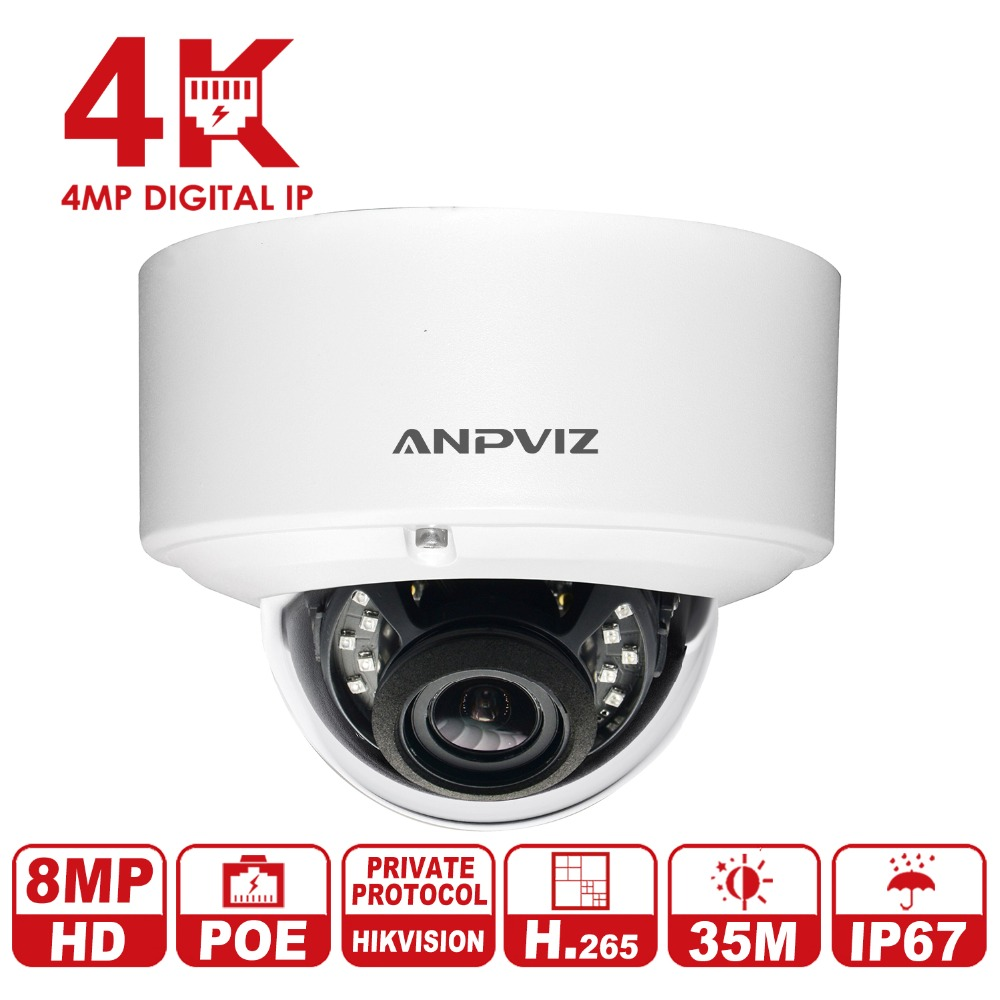 US $137 0 |Anpviz HD 8MP IP Camera with Hikvision protocol 4K Surveillance  Security Video Camera H 265 IR Day & Night vision-in Surveillance Cameras