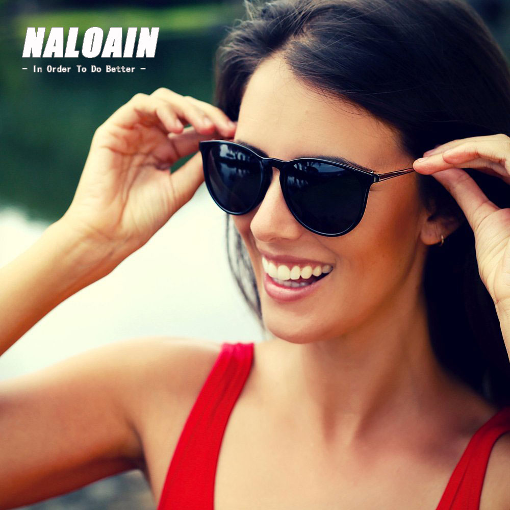 NALOAIN Sunglasses Women Men Metal Frame Brand Designer Round Vintage Retro Fashion Sun Glasses A2730